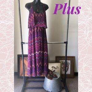 Dresses & Skirts - Pretty Plus Purple Maxi Dress